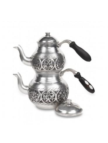 Ağır 1 Mm Kalın Keski Eskitme Bakır Çaydanlık